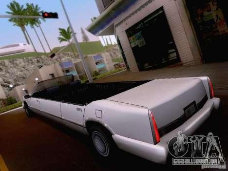 Stretch Cabrio para GTA San Andreas vista direita