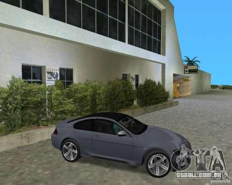 BMW M6 para GTA Vice City vista direita