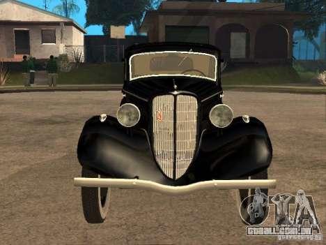 Gaz M1 para GTA San Andreas vista traseira
