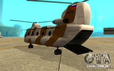 GTA SA Chinook Mod para GTA San Andreas vista direita