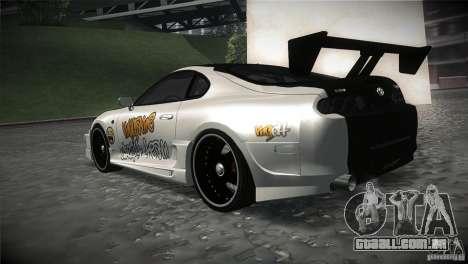 Toyota Supra MyGame Drift Team para GTA San Andreas traseira esquerda vista