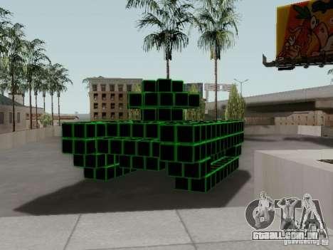Pixel Tank para GTA San Andreas vista direita