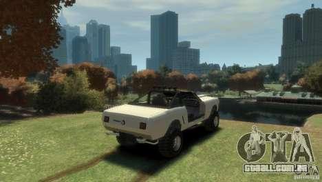 Ford Mustang Sandroadster 1.0 para GTA 4 traseira esquerda vista