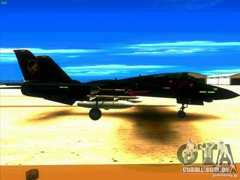F-14 Tomcat Razgriz para GTA San Andreas vista direita
