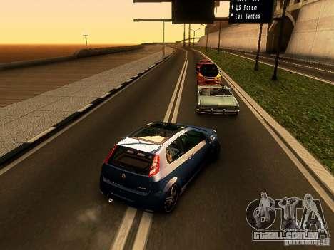 Fiat Punto Multijet para GTA San Andreas traseira esquerda vista