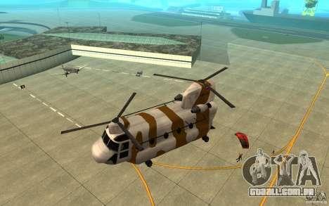 GTA SA Chinook Mod para GTA San Andreas vista inferior