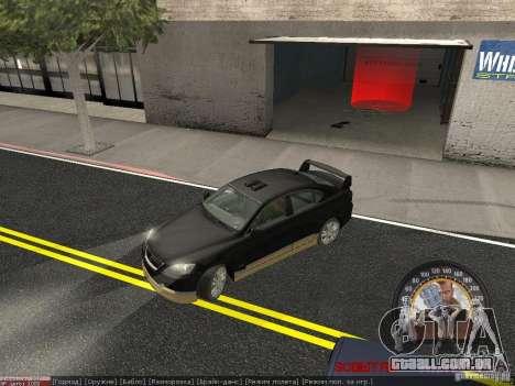 Lexus IS300 para GTA San Andreas traseira esquerda vista