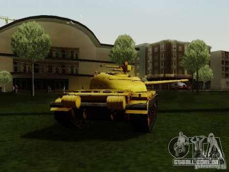 Type 59 GOLD Skin para GTA San Andreas traseira esquerda vista