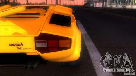 Lamborghini Countach para GTA Vice City vista traseira
