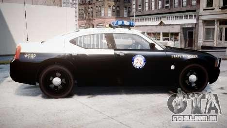 Dodge Charger Florida Highway Patrol [ELS] para GTA 4 esquerda vista