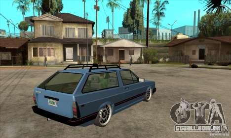 VW Fox 1989 v.2.0 para GTA San Andreas vista direita