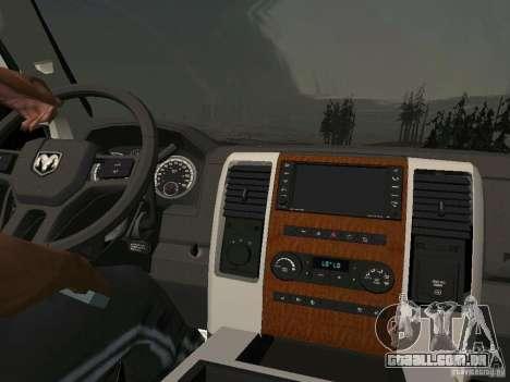 Dodge Ram 1500 Longhorn 2012 para GTA San Andreas traseira esquerda vista