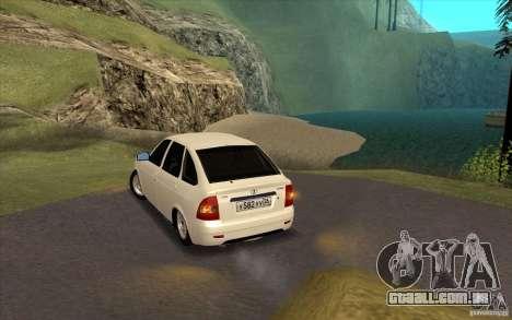 Lada Priora 2172 Hatchback para GTA San Andreas vista direita