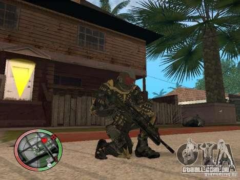 Coleção de armas de Crysis 2 para GTA San Andreas segunda tela