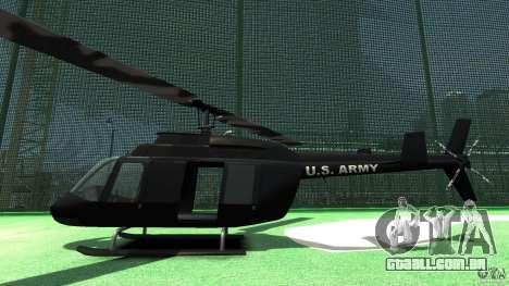 Black U.S. ARMY Helicopter v0.2 para GTA 4 traseira esquerda vista
