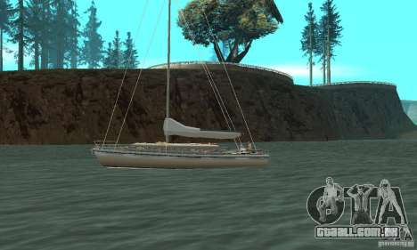 Marquis Segelyacht 09 Textures para GTA San Andreas esquerda vista