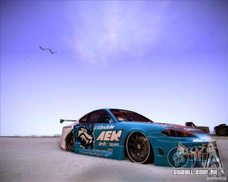Nissan Silvia S15 Blue Tiger para GTA San Andreas vista direita