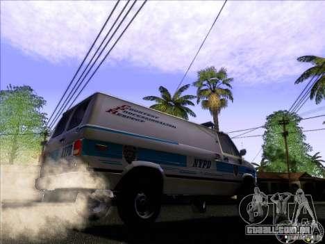 Chevrolet VAN G20 NYPD SWAT para GTA San Andreas vista traseira