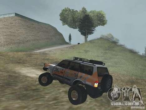 Tornalo 2209SX 4x4 para GTA San Andreas traseira esquerda vista