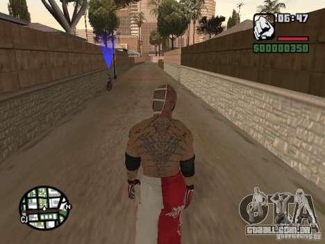 Rey Mysterio para GTA San Andreas por diante tela
