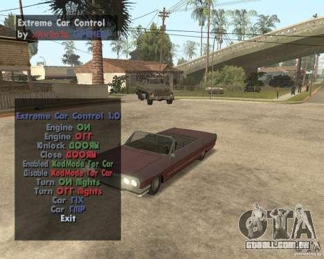Extreme Car Mod (Single Player) para GTA San Andreas segunda tela