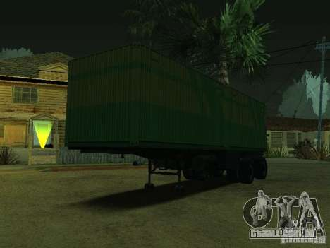 Recipiente portador + Sovtransavto para GTA San Andreas esquerda vista
