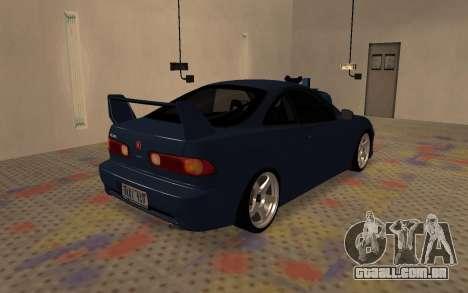 Acura Integra Type R 2000 para GTA San Andreas traseira esquerda vista