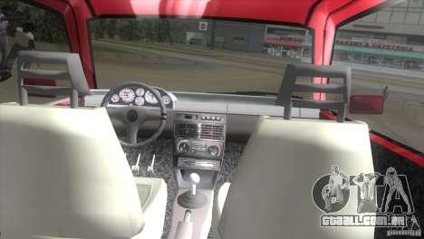 Fiat Uno Turbo para GTA Vice City vista direita
