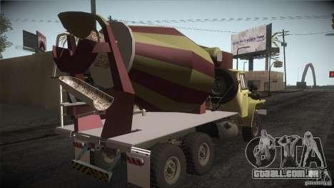 Ural 4320 betoneira para GTA San Andreas vista direita