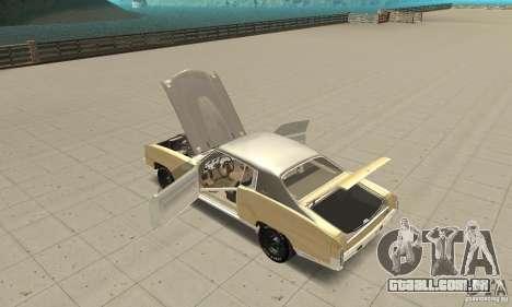 Chevy Monte Carlo [F&F3] para GTA San Andreas vista interior
