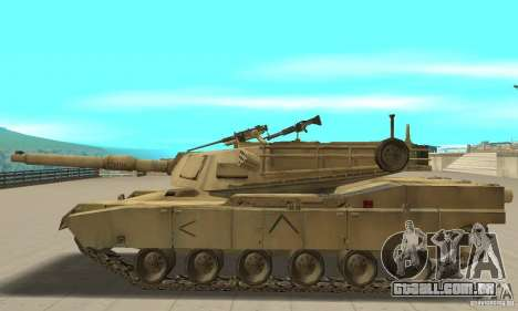 Tanque M1A2 Abrams para GTA San Andreas esquerda vista