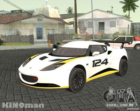 Lotus Evora Type 124 para GTA San Andreas