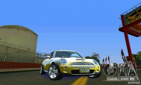 Mini Cooper S para GTA Vice City vista direita