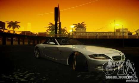 BMW Z4 para GTA San Andreas vista traseira