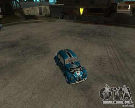 VW Fusca Gremio para GTA San Andreas esquerda vista