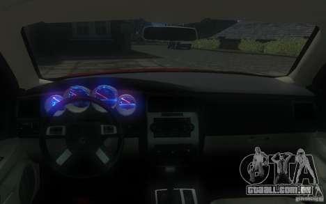 Dodge Charger RT Hemi 2008 para GTA 4 interior
