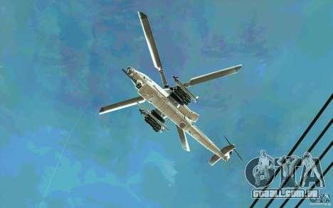 AH-1Z Viper para GTA San Andreas vista traseira