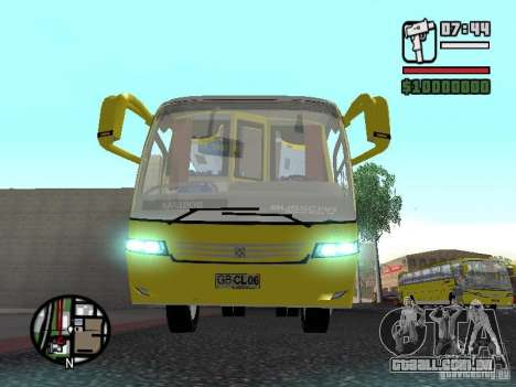 Busscar Vissta Bus para GTA San Andreas vista interior