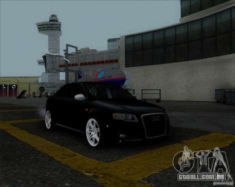 Audi RS4 para GTA San Andreas vista superior