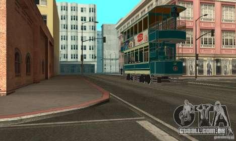 Double Decker Tram para GTA San Andreas esquerda vista
