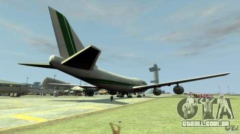 Alitalia para GTA 4 traseira esquerda vista