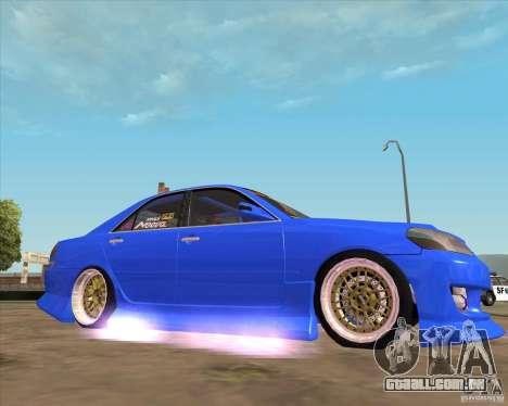 Toyota JZX110 make 2 para GTA San Andreas vista direita
