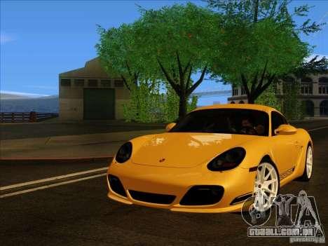 Porsche Cayman R 987 2011 V1.0 para GTA San Andreas traseira esquerda vista