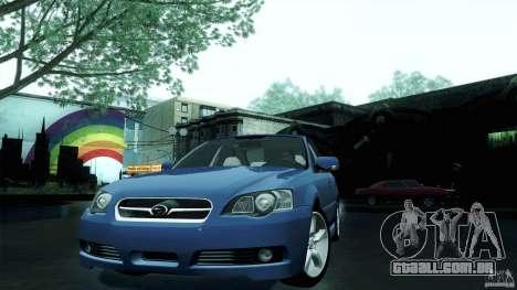 Subaru Legacy B4 3.0R specB para GTA San Andreas traseira esquerda vista