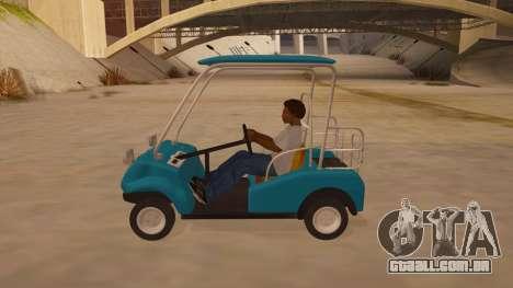 Golf kart para GTA San Andreas esquerda vista