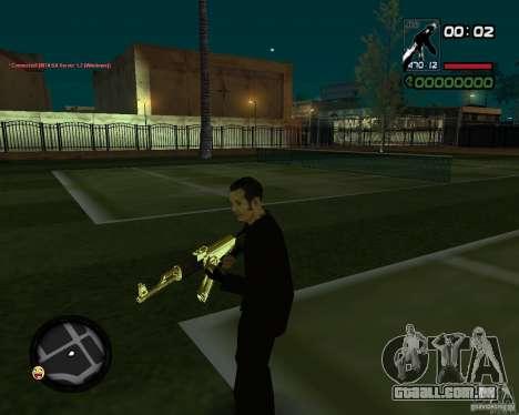 AK-47 Gold para GTA San Andreas segunda tela