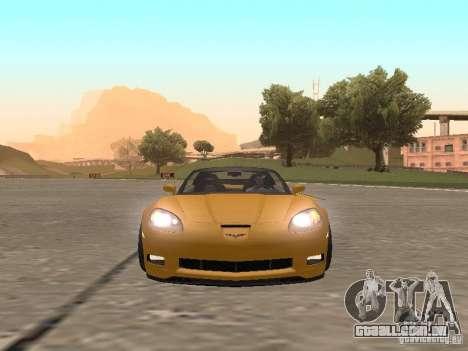 Chevrolet Corvette Z06 para GTA San Andreas vista traseira