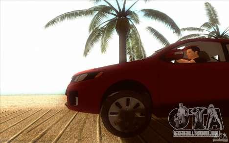 Kia Rio para GTA San Andreas vista direita