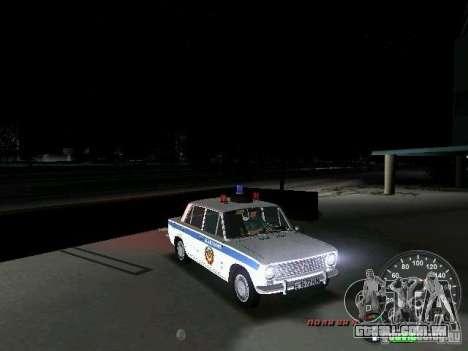 Polícia de 2101 VAZ para GTA Vice City vista lateral