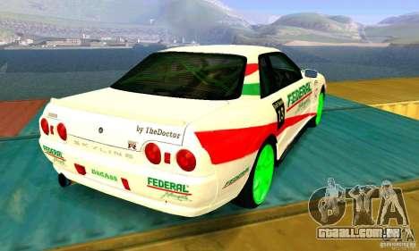 Nissan Skyline GT-R32 BadAss para GTA San Andreas vista direita